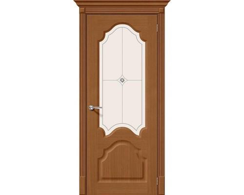 Дверь Афина Ф-11 Орех Худ. Браво, Bravo +петли