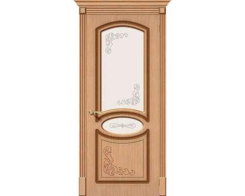 Дверь Азалия Ф-01 Дуб Худ. Браво, Bravo +петли