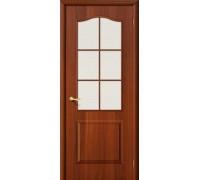 Дверь Палитра Л-11 ИталОрех Хрусталик Браво, Bravo +петли