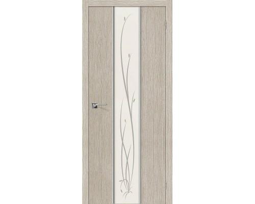 Дверь Глейс-2 Twig 3D Cappuccino Twig Браво, Bravo +петли