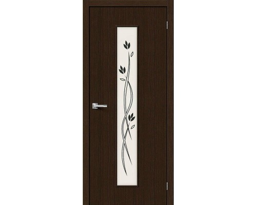 Дверь Тренд-14 3D Wenge Etude Браво, Bravo +петли
