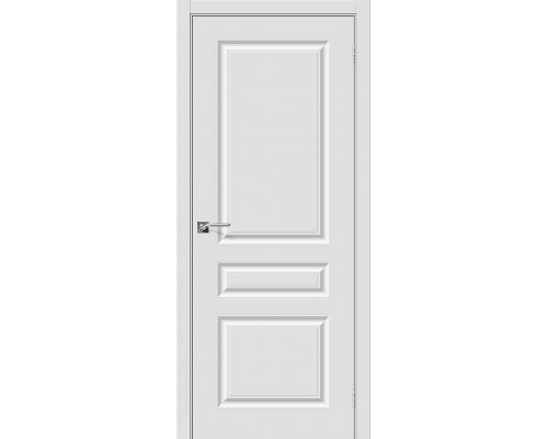 Дверь Скинни-14 П-23 Белый Браво, Bravo +петли