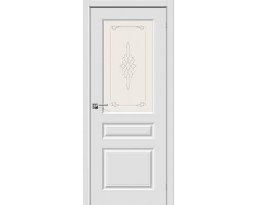 Дверь Скинни-15 П-23 Белый Худ. Браво, Bravo +петли