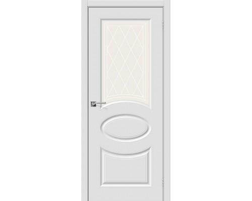 Дверь Скинни-21 П-23 Белый Худ. Браво, Bravo +петли