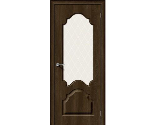 Дверь Скинни-33 Dark Barnwood White Сrystal Браво, Bravo