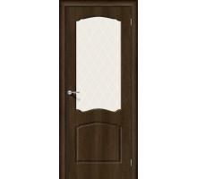 Дверь Альфа-2 Dark Barnwood White Сrystal Браво, Bravo +петли
