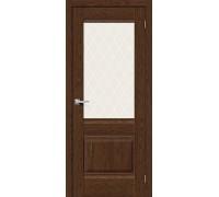 Дверь Прима-3 BrownDreamline White Сrystal Браво, Bravo +петли