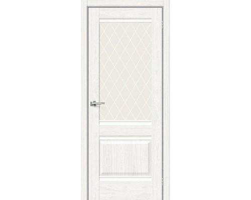 Дверь Прима-3 WhiteDreamline White Сrystal Браво, Bravo +петли