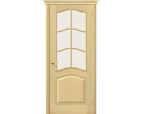 Дверь М7 Без отделки Сатинато Белорусские Двери Браво, Bravo +петли