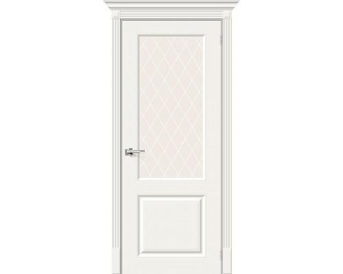 Дверь Скинни-13 Whitey White Сrystal Браво, Bravo