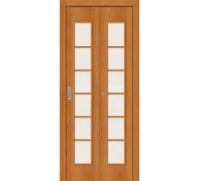Дверь складная 2С Л-12 МиланОрех Сатинато Браво, Bravo