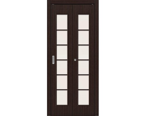 Дверь складная 2С Л-13 Венге Сатинато Браво, Bravo