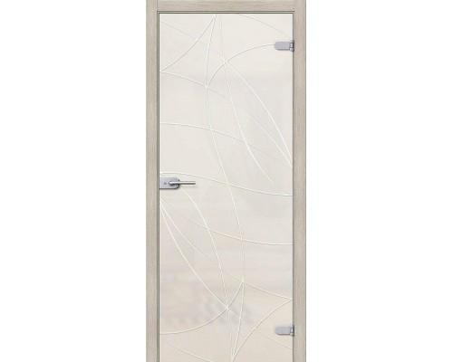 Дверь стеклянная Аврора Белое Сатинато Браво, Bravo