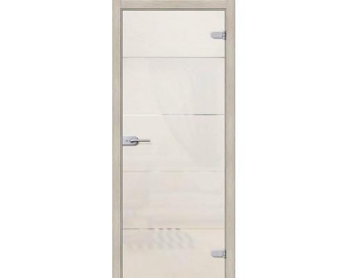 Дверь стеклянная Диана Белое Сатинато Браво, Bravo