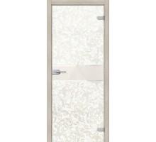 Дверь стеклянная Флори Белый Браво, Bravo