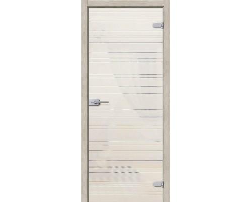 Дверь стеклянная Грация Белое Сатинато Браво, Bravo