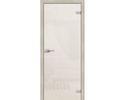 Дверь стеклянная Лайт Белое Сатинато Браво, Bravo
