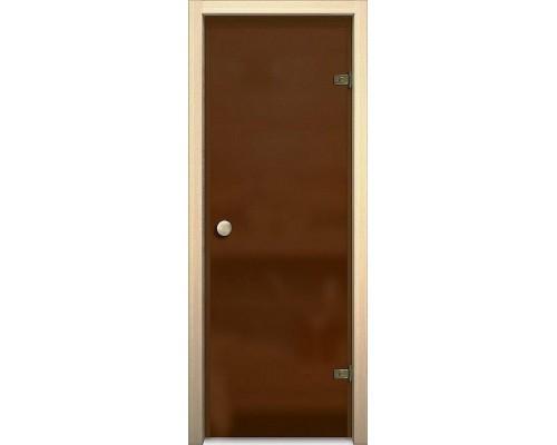 Дверь стеклянная Кноб Е Бронза Сатинато Акма Браво, Bravo