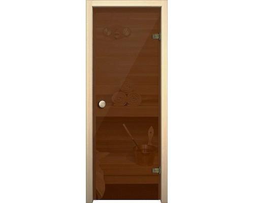 Дверь стеклянная Кноб Е Бронза тонированное Браво, Bravo