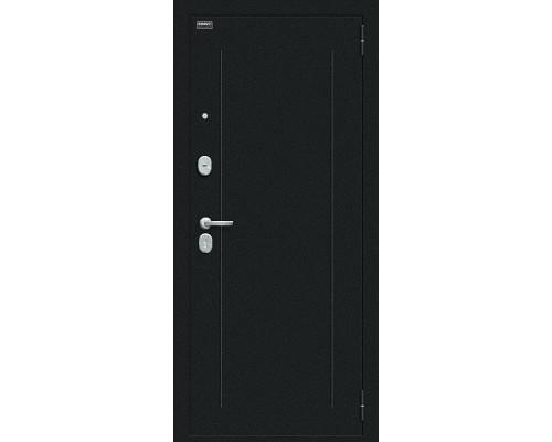 Дверь входная Bravo R Флэш Букле черное/Bianco Veralinga