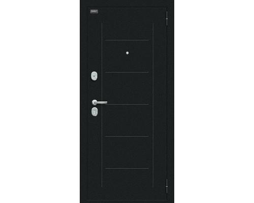 Дверь входная Bravo R Пик Букле черное/Casablanca