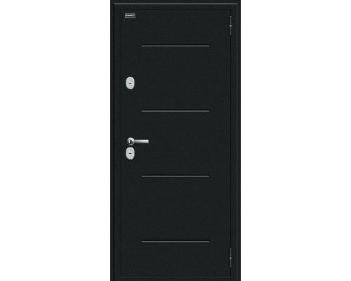 Дверь входная Bravo Thermo Thermo Лайн Букле черное/Cappuccino Veralinga