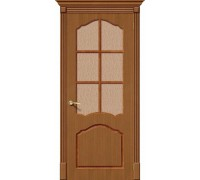Дверь Каролина Ф-11 Орех Риф. Браво, Bravo +петли