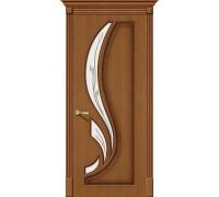 Дверь Лилия Ф-11 Орех Полимер Браво, Bravo +петли
