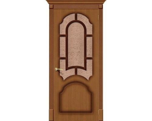 Дверь Соната Ф-11 Орех Риф. Браво, Bravo +петли